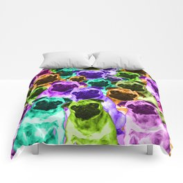 Colorful  Pug Pattern Comforters