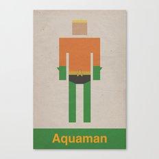 Retro Aquaman Canvas Print