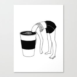 Coffee, First Canvas Print