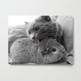 in our own weird way, we work. Metal Print