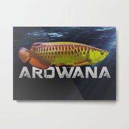 Arowana Monster Fish Metal Print