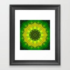 Lemon Lime Mandala  Framed Art Print