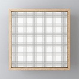 Farmhouse Plaid in Gray and White Framed Mini Art Print