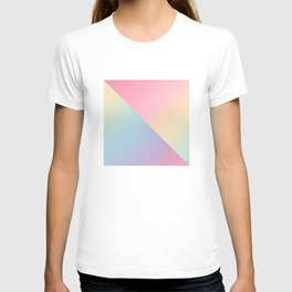 Geometric abstract rainbow gradient T-shirt