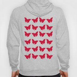 Rouge Bold Mod Butterflies Hoody