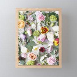 Colorful Summer Floral Framed Mini Art Print