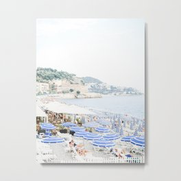 Nice, France | French Riviera Beach View | Travel Photography Print Metal Print