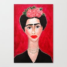 Frida Portrait Canvas Print