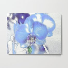 Exploding Blue Orchids Metal Print