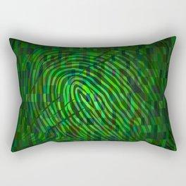 Silhouette of fingerprint Rectangular Pillow