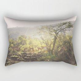 African buck sunrise Rectangular Pillow