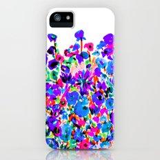 Flower Fields Blue iPhone (5, 5s) Slim Case