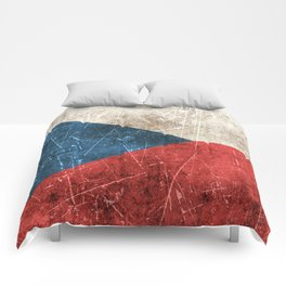 Vintage Aged and Scratched Czech Flag Comforters
