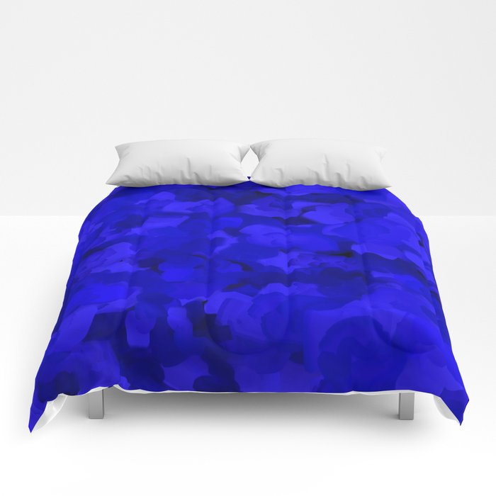 Rich Cobalt Blue Abstract Comforters