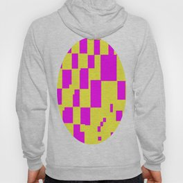 Egg Yellow-Fuchsia City Scapes Abstract Hoody