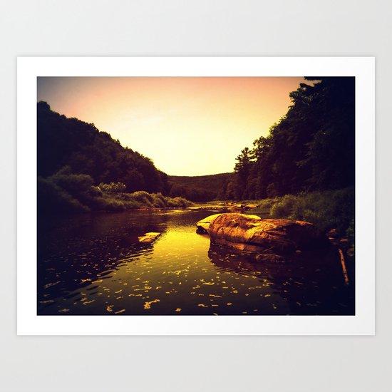 Let the Creek Take You Away Art Print