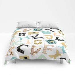 Cute alphabet Comforters