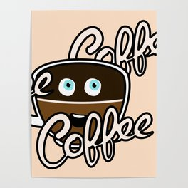 Cute Coffee Addict Poster