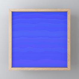 Lazy Blue Sky Subtle Rolling Cloud Stripes Framed Mini Art Print