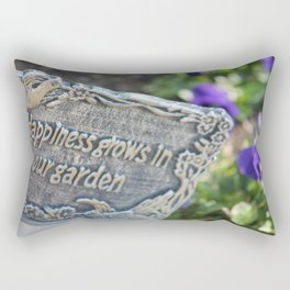 Happiness Grows in Our Garden Rectangular Pillow