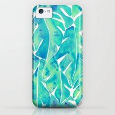 Split Leaf Philodendron – Turquoise iPhone 5c Slim Case