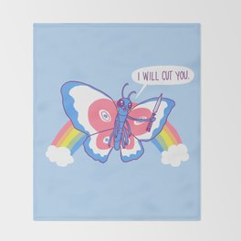 Butterfly Knife Throw Blanket