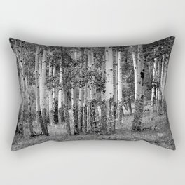 Aspen Stand in Black and White Rectangular Pillow