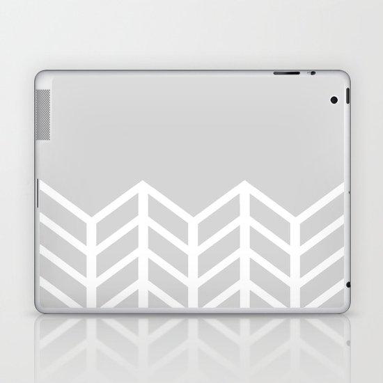 LACE CHEVRON (GRAY) Laptop & iPad Skin