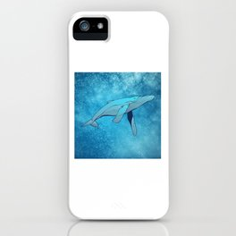 Whale in Space iPhone Case