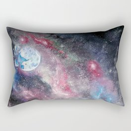 Space and the Moon Rectangular Pillow