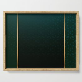 Emerald and Gold Accents Serving Tray