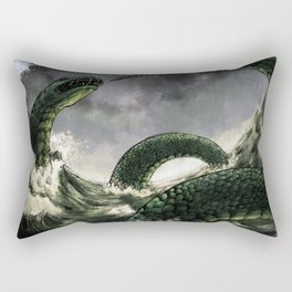 Jormungandr the Midgard Serpent Rectangular Pillow