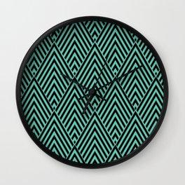 Triangle in Diamonds. Wall Clock