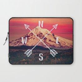 Snowy Mountain Compass Laptop Sleeve