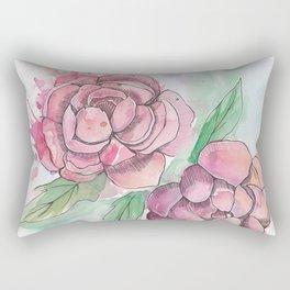 Peony Splatter Rectangular Pillow