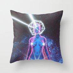 Starry Sky Emoji & Diamond Emoji Throw Pillow
