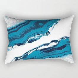 Blue Agate #2 #gem #decor #art #society6 Rectangular Pillow