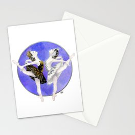 Swanlake ballerinas Stationery Cards