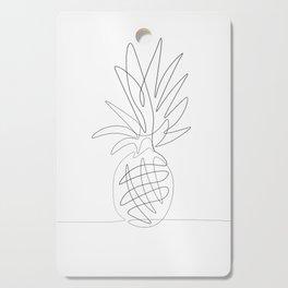 One Line Pineapple Cutting Board