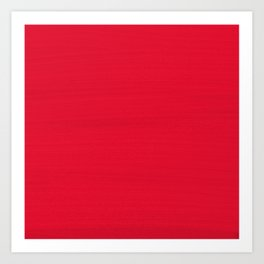 Juicy Red Apple Brush Texture Art Print