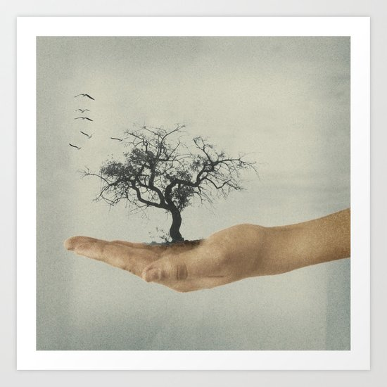 It's all in your mind Art Print
