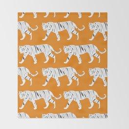 Tiger Print Throw Blanket