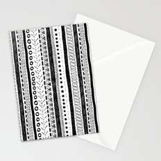Black and White Pattern 2 Stationery Cards