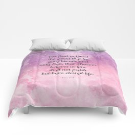 John 3:16, For God So Loved the World Scripture Comforters