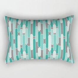 Modern Tabs in Mint Green and Gray Rectangular Pillow