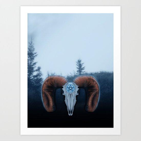 C-3 Horns Art Print
