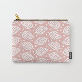 Mid Century Modern Falling Leaves Dusty Rose Carry-All Pouch