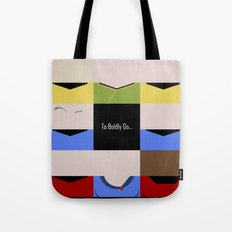 To Boldy Go - square - Star Trek The Original Series TOS - startrek Trektangle Kirk Spock Bones  Tote Bag