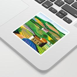 Green Fields Sticker