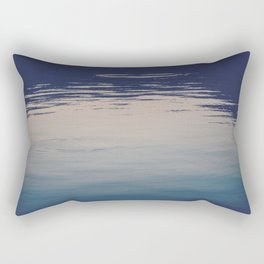 Ombre Lake Ripples Rectangular Pillow